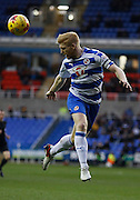 Reading defender, Paul McShane heads clear during the Sky Bet Championship match between Reading and Blackburn Rovers at the Madejski Stadium, Reading, England on 20 December 2015. Photo by Andy Walter.