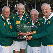 Gardnar Mulloy Cup Winners, Australia, left to right, Harward Hillier, Alan Bailey, Doug Corbett, Neville Halligan  during the 2009 ITF Super-Seniors World Team and Individual Championships at Perth, Western Australia, between 2-15th November, 2009.