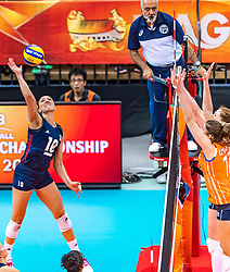 15-10-2018 JPN: World Championship Volleyball Women day 16, Nagoya<br /> Netherlands - USA 3-2 / Jordan Larson #10 of USA