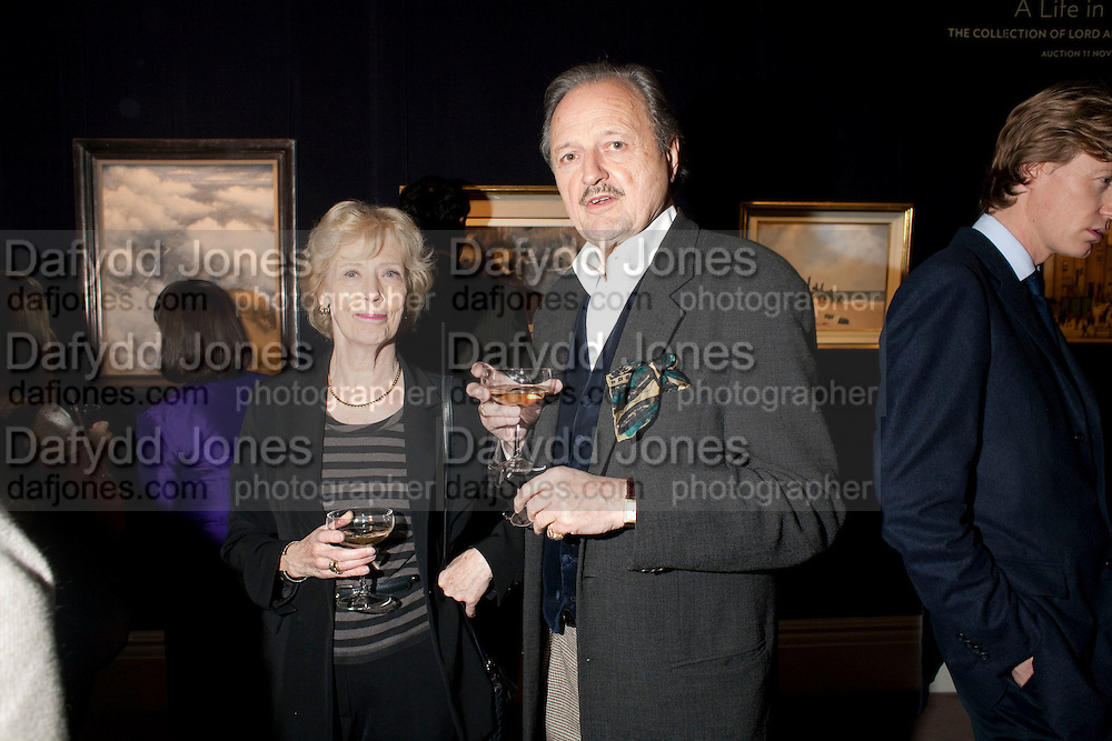PETER BOWLES, Preview of  Lord and Lady Attenborough art works  at SothebyÕs. Donation from the evening to be made to RADA. New Bond St. London. 9 November 2009<br /> PETER BOWLES, Preview of  Lord and Lady Attenborough art works  at Sotheby's. Donation from the evening to be made to RADA. New Bond St. London. 9 November 2009