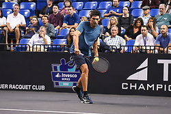 October 4, 2018 - St. Louis, Missouri, U.S - MARK PHILIPPOUSIS with the backhand shot during the Invest Series True Champions Classic on Thursday, October 4, 2018, held at The Chaifetz Arena in St. Louis, MO (Photo credit Richard Ulreich / ZUMA Press) (Credit Image: © Richard Ulreich/ZUMA Wire)