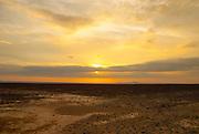 Sunset Argentina desert landscape