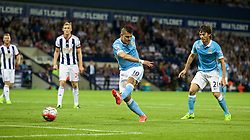 WEST BROMWICH, ENGLAND - Monday, August 10, 2015: Manchester City's Sergio Aguero in action against West Bromwich Albion during the Premier League match at the Hawthorns. (Pic by David Rawcliffe/Propaganda)
