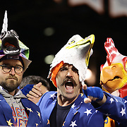 New York Mets fans during the MLB NLCS Playoffs game two, Chicago Cubs vs New York Mets at Citi Field, Queens, New York. USA. 18th October 2015. Photo Tim Clayton