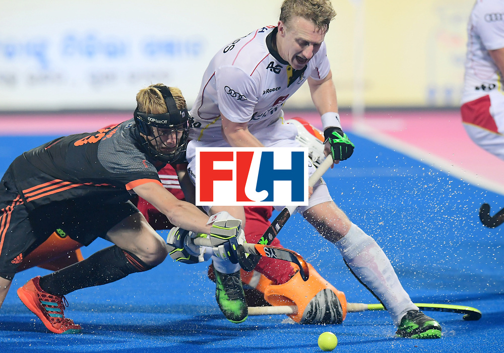 Odisha Men's Hockey World League Final Bhubaneswar 2017<br /> Match id:12<br /> Belgium v Netherlands<br /> Foto: Amaury Keusters (Bel) Joep de Mol (Ned) <br /> COPYRIGHT WORLDSPORTPICS FRANK UIJLENBROEK
