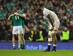 Courtney Lawes of England is dejected at the end of the game - Mandatory by-line: Ken Sutton/JMP - 18/03/2017 - RUGBY - Aviva Stadium - Dublin,  - Ireland v England - RBS 6 Nations