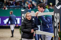 BORMANN Finja (GER), LAHDE Harm (GER)<br /> Leipzig - Partner Pferd 2020<br /> Impression am Rande - Parcoursbesichtigung<br /> Longines FEI Jumping World Cup™ presented by Sparkasse<br /> Sparkassen Cup - Großer Preis von Leipzig FEI Jumping World Cup™ Wertungsprüfung <br /> Springprüfung mit Stechen, international<br /> Höhe: 1.55 m<br /> 19. Januar 2020<br /> © www.sportfotos-lafrentz.de/Stefan Lafrentz