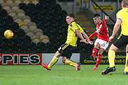 Dan Ward of Middlesbrough (35) goes close with a thunderous shot during the EFL Trophy group stage match between Burton Albion and U21 Middlesbrough at the Pirelli Stadium, Burton upon Trent, England on 7 November 2018.