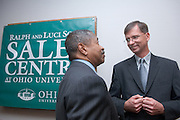 "President McDavis, Larry Schey..11/1/2006..Ralph and Luci Schey Sales Centre named at Ohio University.Center named for prominent Cleveland-area residents..ATHENS, Ohio (Nov. 1, 2006) -- Ohio University celebrated today the naming of the Ralph and Luci Schey Sales Centre in the College of Business. The Ohio University Board of Trustees passed a resolution that approved the official naming of the center during its recent meeting. Ralph and Luci Schey are residents of Gates Mills, Ohio...""The Ralph and Luci Schey Sales Centre is truly a unique program that continues to meet the needs of current and future Ohio University students,"" Ohio University President Roderick J. McDavis said. ""The skills that students develop at the center are useful in a variety of academic pursuits and careers. Statistics show that up to 65 percent of college graduates' first professional jobs are in sales-related roles.""..Ralph Schey was a guiding force behind the creation of the center in 1997. He challenged the university to get involved in sales education. ""It is particularly fitting that the center has now been named for those who first inspired us,"" said College of Business Associate Dean Dawn Deeter-Schmelz...Ralph and Luci Schey have supported their vision with a $2.2 million commitment to support the sales center. The endowment they have funded supports scholarships, operating expenses, nationally known speakers, professional trainers, workshops and sales symposia that allow current students to interact with professionals in the field...Ralph Schey, now retired, was for two decades president and CEO of the $1 billion conglomerate Scott Fetzer Company, a Berkshire Hathaway holding. His wife, Luci Schey, has been a trustee for the Cleveland Orchestra, among other civic groups. The Scheys are emeriti trustees of The Ohio University Foundation Board. Ralph Schey earned his bachelor's of science in commerce from Ohio University in 1948 and received an honorary doctorate from the university"