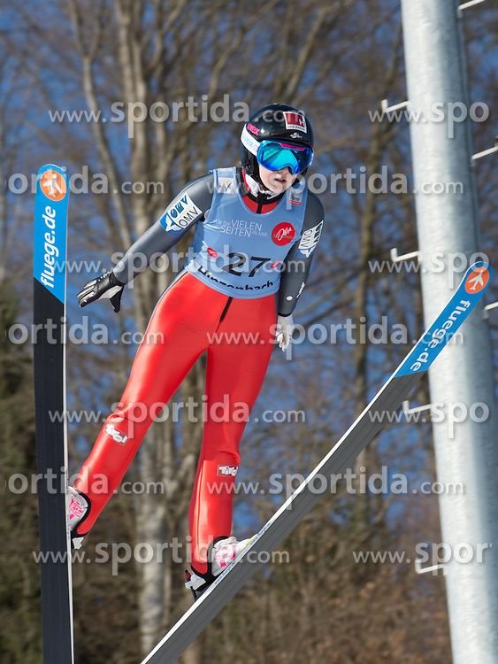 31.01.2015, Energie AG Skisprung Arena, Hinzenbach, AUT, FIS Ski Sprung, FIS Ski Jumping World Cup Ladies, Hinzenbach, Wettkampf im Bild Chiara Hölzl (AUT) // during FIS Ski Jumping World Cup Ladies at the Energie AG Skisprung Arena, Hinzenbach, Austria on 2015/01/31. EXPA Pictures © 2015, PhotoCredit: EXPA/ Reinhard Eisenbauer
