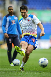 Yann Kermorgant of Reading warms up - Mandatory by-line: Jason Brown/JMP - 16/05/2017 - FOOTBALL - Madejski Stadium - Reading, England - Reading v Fulham - Sky Bet Championship Play-off Semi-Final 2nd Leg