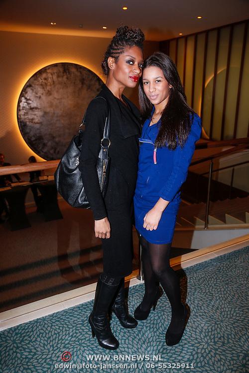 NLD/Amsterdam/20130205 - Beauty Astir Awards 2013, Sylvana Simons en dochter Levi