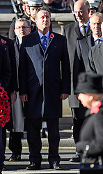 © Licensed to London News Pictures. 13/11/2016. London, UK.  Former British prime minster DAVID CAMERON attends a Remembrance Day Ceremony at the Cenotaph war memorial in London, United Kingdom, on November 13, 2016 . Thousands of people honour the war dead by gathering at the iconic memorial to lay wreaths and observe two minutes silence. Photo credit: Ben Cawthra/LNP