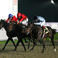 Greatwood and Kieren Fallon winning the 7.20 race