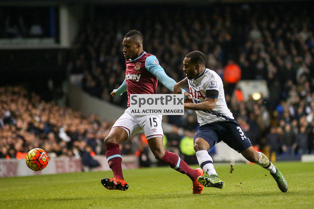 Diafra Sakho,  Danny Rose During Tottenham Hotspur vs West Ham United on Sunday the 22nd November 2015.