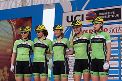 Cylance Pro Cycling presented to the crowds - Tour of Chongming Island 2016 - Stage 1. A 139.8km road race on Chongming Island, China on May 6th 2016.