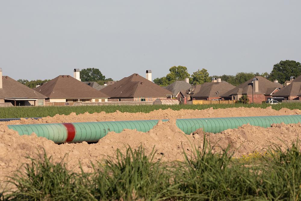 Construction on the Bayou Bridge Pipeline in Vermillion Parish, Louisiana.