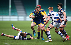 Charlie Gamble (Warriors AASE/Worcester Sixth Form College) of Worcester Warriors Under 18s - Mandatory by-line: Robbie Stephenson/JMP - 14/01/2018 - RUGBY - Sixways Stadium - Worcester, England - Worcester Warriors Under 18s v Yorkshire Carnegie Under 18s - Premiership Rugby U18 Academy