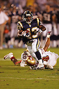 SAN DIEGO - SEPTEMBER 1:  Rookie running back Darren Sproles #43 of the San Diego Chargers scores a touchdown on a 24 yard pass against the San Francisco 49ers during a preseason game on September 1, 2005 at Qualcomm Stadium in San Diego, California. The Chargers defeated the 49ers 28-24. ©Paul Anthony Spinelli *** Local Caption *** Darren Sproles