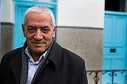 En Tunisie la peur s'installe. Houssine Abbassi, secretaire generale du syndicat  UGTT, il figure sur une  iste noire des personnes a assasiner, publie sur des pages facebook salafistes. Tunis, 9-02-2013