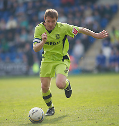 COLCHESTER, ENGLAND - Saturday, April 24, 2010: Tranmere Rovers' Ian Thomas-Moore in action against Colchester United during the Football League One match at the Western Community Stadium. (Photo by Gareth Davies/Propaganda)