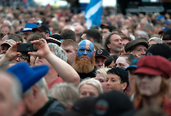 RUNRIG - THE LAST DANCE - FINAL FAREWELL CONCERT, Stirling, Saturday,18th August 2018<br /> <br /> Veteran Scottish rockers Runrig played their farewell concert tonight to mark their retirement after 45 years in the music business.<br /> <br /> The current line-up features Rory Macdonald (Bass), Calum Macdonald (Percussion), Iain Bayne (Drums), Malcolm Jones (Guitar), Brian Hurren (Keyboard) and Bruce Guthro (Lead Singer)<br /> <br /> They were supported by former member Donnie Munro and Julie Fowlis<br /> <br /> Pictured:  Runrig fans<br /> <br /> <br /> (c) Alex Todd | Edinburgh Elite media
