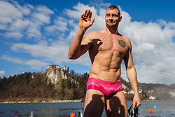 Luka Turk during Bled trophy in winter swimming in lake Bled on 18th of February, 2017, Bled, Slovenia. Photo by Grega Valancic / Sportida