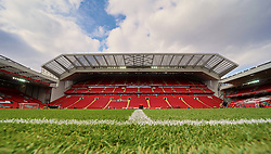 LIVERPOOL, ENGLAND - Sunday, March 31, 2019: A general view of Anfield facing then new Main Stand before the FA Premier League match between Liverpool FC and Tottenham Hotspur FC at Anfield. (Pic by David Rawcliffe/Propaganda)