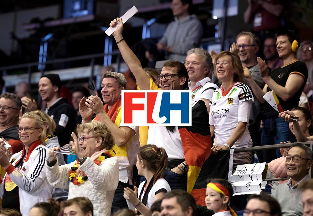 BERLIN - Indoor Hockey World Cup<br /> Quarterfinal 3: Germany - Poland<br /> foto: German fan.<br /> WORLDSPORTPICS COPYRIGHT FRANK UIJLENBROEK