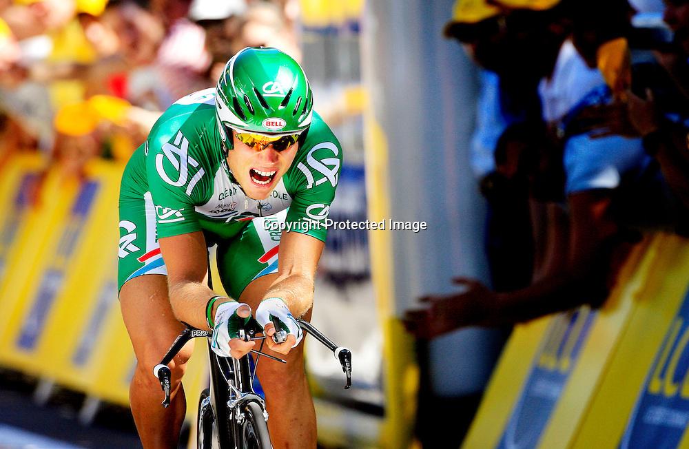 20060106. Strasbourg. Thor Hushovd vant prologen den første dagen i Tour de France..Foto: Daniel Sannum Lauten/ Dagbladet
