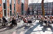 Nederland, Nijmegen, 23-3-2012Opo het terras voor filmhuis lux is het druk op deze vroege zonnige lentedag.Foto: Flip Franssen/Hollandse Hoogte