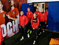 CARDIFF, WALES - Thursday, November 15, 2018: Denmark's goalkeeper Kasper Schmeichel leads his players out before a training session at the Cardiff City Stadium ahead of the UEFA Nations League Group Stage League B Group 4 match between Wales and Denmark. (Pic by David Rawcliffe/Propaganda)