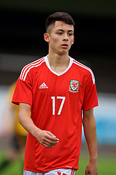 MERTHYR TYDFIL, WALES - Thursday, November 2, 2017: Wales' Charlie Hughes during an Under-18 Academy Representative Friendly match between Wales and Newport County at Penydarren Park. (Pic by David Rawcliffe/Propaganda)