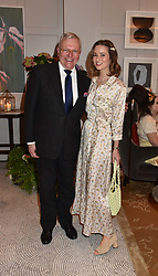 Klaus Kabelitz General Manager of Belmond Cadogan and Kelly Eastwood at the Belmond Cadogan Hotel Grand Opening, Sloane Street, London England. 16 May 2019. <br /> <br /> ***For fees please contact us prior to publication***