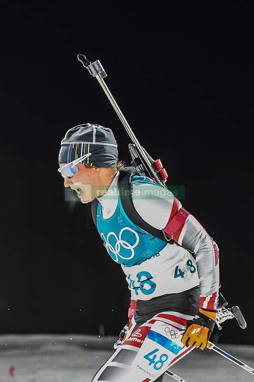 February 12, 2018 - Pyeongchang, Gangwon, South Korea - Dunja Zdouc of Austria  competing at Women's 10km Pursuit, Biathlon, at olympics at Alpensia biathlon stadium, Pyeongchang, South Korea. on February 12, 2018. Ulrik Pedersen/Nurphoto  (Credit Image: © Ulrik Pedersen/NurPhoto via ZUMA Press)