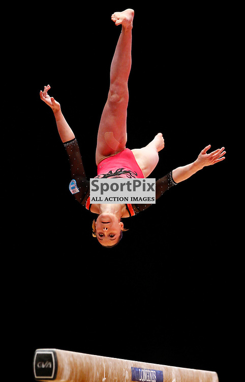 2015 Artistic Gymnastics World Championships being held in Glasgow from 23rd October to 1st November 2015...Ailen Valente (Argentina) competing in the Balance Beam competition...(c) STEPHEN LAWSON | SportPix.org.uk