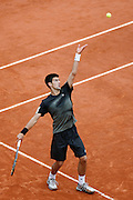 Roland Garros. Paris, France. June 3rd 2008..Novak DJOKOVIC against Ernest GULBIS..1/4 Finals...
