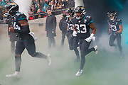 Jacksonville Jaguars Running Back Devine Ozigbo (33) during the International Series match between Jacksonville Jaguars and Houston Texans at Wembley Stadium, London, England on 3 November 2019.