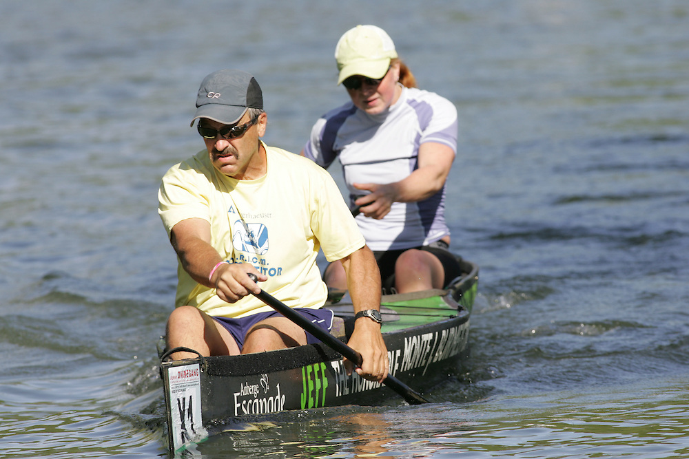 (Cooperstown to Bainsbridge, NY---26 May 2008) The 2008 General Clinton Regatta for Canoes held on 70 miles of the Susquehana River between Cooperstown and Bainsbridge, New York. The boat pictured is X1 JEFF DEFEO, KAITLYN MCELROY