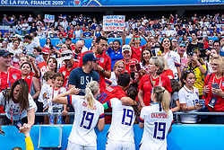 07-07-2019 FRA: Final USA - Netherlands, Lyon<br /> FIFA Women's World Cup France final match between United States of America and Netherlands at Parc Olympique Lyonnais. USA won 2-0 / Team USA and support