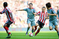 SUNDERLAND, ENGLAND - Saturday, August 16, 2008: Liverpool's Robbie Keane in action against Sunderland during the opening Premiership match of the season at the Stadium of Light. (Photo by David Rawcliffe/Propaganda)