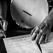 VIRGINIA BEACH, VA - OCTOBER 4: Phillip Roebuck works on a song in his studio on Saturday, Oct. 4, 2014 in Virginia Beach, Va. (Photo by Jay Westcott/Zuma Press)