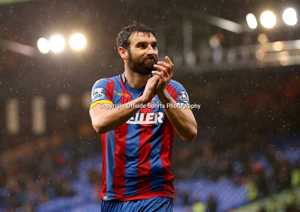 23 November 2014 - Barclays Premier League - Crystal Palace v Liverpool - Mile Jedinak of Crystal Palace celebrates - Photo: Marc Atkins / Offside.