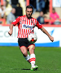 Exeter City's Jamie McAllister - Photo mandatory by-line: Harry Trump/JMP - Mobile: 07966 386802 - 18/04/15 - SPORT - FOOTBALL - Sky Bet League Two - Exeter City v Southend United - St James Park, Exeter, England.