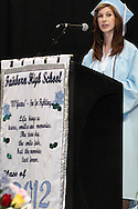 Emmalee Manes delivers the Valedictory Address during the Fairborn High School commencement at the Nutter Center in Fairborn, Friday, May 25, 2012.