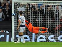 Football - 2018 / 2019 UEFA Champions League - Group B: Tottenham Hotspur vs. Barcelona<br /> <br /> Ivan Rakitic of Barcelona scores a wonder goal past goalkeeper, Hugo Lloris, at Wembley Stadium.<br /> <br /> COLORSPORT/ANDREW COWIE