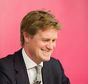 Tristram Hunt MP, Labour's Shadow Secretary of State for Education delivers a speech as part of Labour's summer campaign on The Choice facing the country between Labour and the Conservatives on education at Microsoft, London, Great Britain  18th August 2014.<br /> <br /> Image ©Licensed to Elliott Franks Photography Services. 18/08/2014. London, United Kingdom. Tristram Hunt Speech. Microsoft Victoria. Picture by Elliott Franks