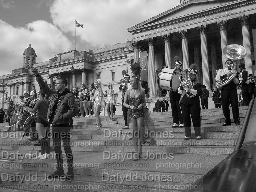 Dancers from Britain's Got Talent, Trafalgar Sq. London. 7 March 2017