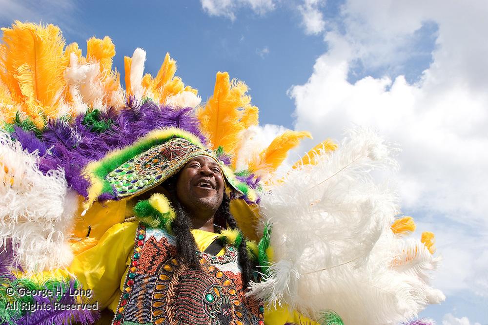 A few Mardi Gras Indian tribes on Super Sunday near Bayou St. John
