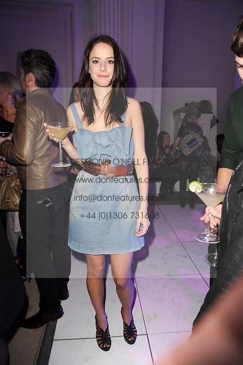 Kaya Scodelario at a party to celebrate the Mulberry Autumn Winter 2010 collection held at The Orangery, Kensington Palace, London on 21st February 2010.